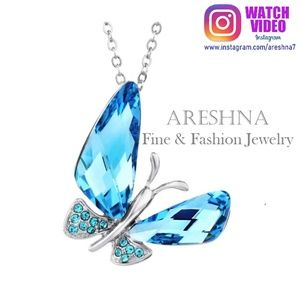 Blue Buttefly Luxury Pendant Necklace